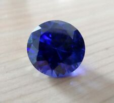 Unheated 8mm AAA Blue Sapphire Round Faceted Cut 3.16ct VVS Loose Gemstone