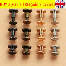 10 Pcs Belt Screw Brass Solid Rivets Stud Head Leather Craft Nail For Wallet