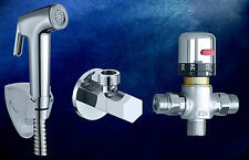Thermostatic Mixer Valve Handheld shower bidet sprayer Head Douche Kit set