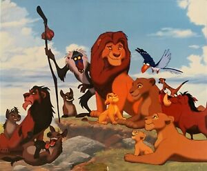 WALT DISNEY THE LION KING 1994 Limited Edition Sericel with COA