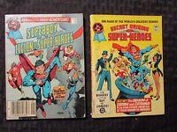 1980/84 DC Blue Ribbon Digest #5 FN- #44 FN+ Superman Superboy LOT of 2