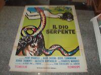 IL DIO SERPENTE Manifesto 2F originale 1970