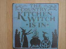 Shabby Halloween Kitchen Witch  plaque/sign, chic and unique