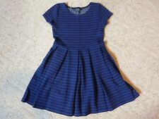 Polo Ralph Lauren youth girls black and blue stripe dress size M 8/10 EUC