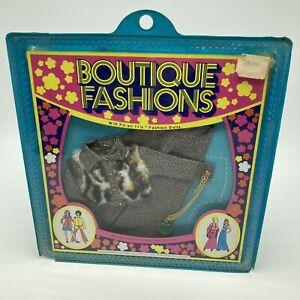 Vintage Peggy Ann Boutique Fashion Doll Outfit Animal Print Fur Pant Suit
