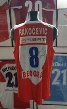 Maillot jersey trikot serbia red star belgrade zvezda rakocevic worn porte fiba