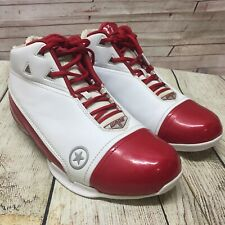 Converse All-Star Dwayne Wade 13 Basketball Shoes White Red Patent Sneakers  9.5