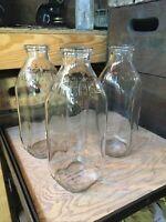 3 Vintage 1 Quart Milk Bottles Mitchell Imperial Dairy Bottle New York Jersey?