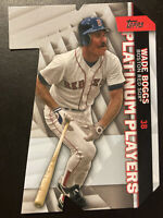 2021 Topps Series 1 Wade Boggs Platinum Players Die Cuts #PDC20 Red Sox