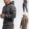 Echt Mens Hoodie Gym Workout Pullover Training Bodybuilding Muscle Hooded Top Uk