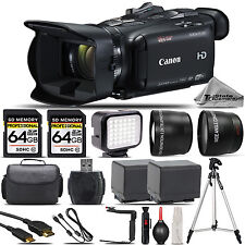 Canon VIXIA HF G40 Full HD Camcorder 20X + EXT BATT+ LED + Tripod + 128GB Bundle