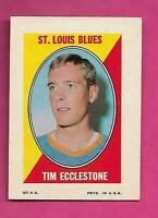 1970-71 OPC/TOPPS  BLUES TIM ECCLESTONE STICKER STAMP EX-MT CARD (INV# C7347)