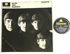 THE BEATLES - With The Beatles 1963 Vinyl Album Parlophone PMC1206 MONO G+/Fair
