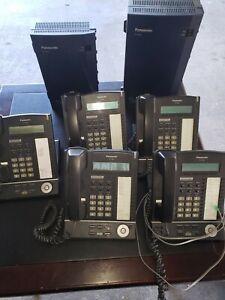 Panasonic Digital Super Hybrid System KX-TDA50 KX-TVA50 & 5 KX-T7633 Phones
