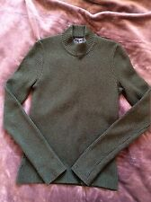 **RALPH LAUREN POLO SPORT CASHMERE JUMPER TOP SWEATER KNIT KHAKI GREEN**
