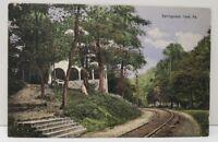 Springwood York Pennsylvania Gazebo Railroad 1911 Postcard C3