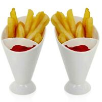 2 4 6 2pc Snack Dish Removable Dip Dish Chips Cone stand Fries Vegetable Holder