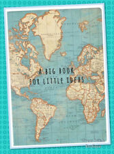 "Perfect Gift for Dad Or Grandad- Retro ""Little Ideas"" Vintage Map A5 Notebook!"
