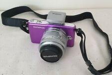 Olympus Pen Mini E-PM1 purple Digital Camera 14-42mm Lens