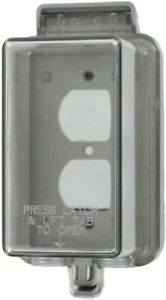 """Leviton 5976-CDL Clear Outdoor Weather Resistant """"While in Use"""" Outlet Cover"""