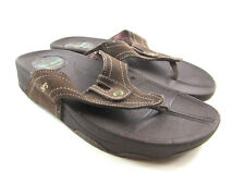 Skechers Tone Ups Moonrock Womens Brown Suede Thong Sandals  Size 8  46694