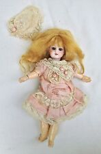 """Rare antique bisque doll 8"""" / 20cm - Mignonette size with fully articulated body"""