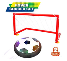 Soccer Goal Set Hover Football for Kids Boys Girls Toys Indoor Outdoor Disk Game