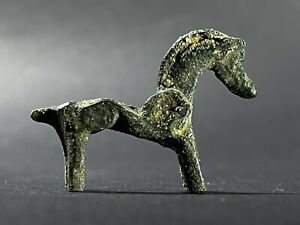 ANCIENT CELTIC BRONZE HORSE FIGURINE - CIRCA 100 BC - 100 AD