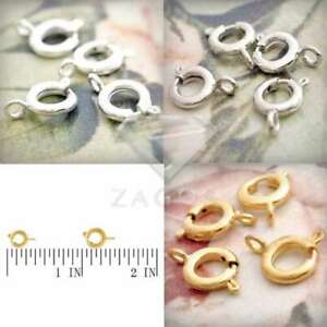 50pcs Spring Ring Clasps Bracelet Necklace Jewelry Findings Connectors 11x7x3mm