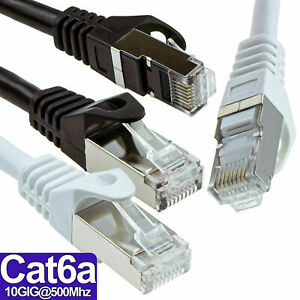 Cat6A FAST SSTP Shielded RJ45 Network Ethernet 10GIG Gaming Internet Cable LOT