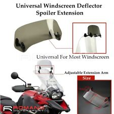 Smoke Motorcycle Windshield Extension Spoiler Windscreen Air Deflector For Honda