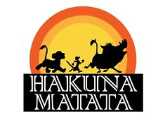 *DISNEY Lions King Hakuna Matata***********FABRIC/T-SHIRT IRON ON TRANSFER