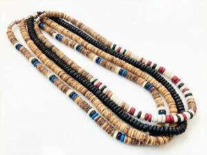 """Natural Coco Wood Beads Surfer Necklaces 20"""" long Men's Teen's Fashion 8mm"""