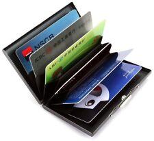 Mens Wallet Credit Card Holder RFID Blocking Steel Black Lightweight Gift New UK