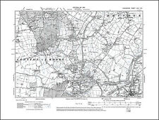 Old map of Whittle le Woods, Clayton le Woods, Lancashire 1912: 69SE repro
