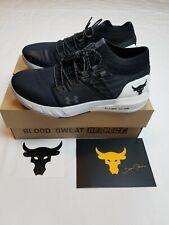 Under Armour UA PROJECT ROCK 2 Black White Training Shoes Men 3022024-001 SZ 10