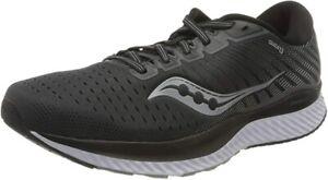 Saucony Men's Guide 13 Running Shoes, Black/White, 13 2E(W) US