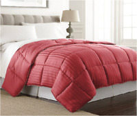 Down Alternative™ Reversible 1PC Comforter Queen & King Quilted Striped Embossed
