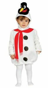 Toddlers Little Snowman Christmas Nativity Fancy Dress Costume Xmas Outfit