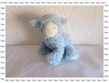 F - Peluche Doudou Agneau Mouton Bleu et Blanc