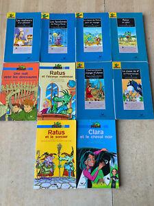 lot 10 livres Ratus Poche - Série Bleue / 9-12 ans - Hatier / lecteur confirmé