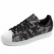 NEW Mens Adidas Originals Superstar Trainers Black Grey Camouflage UK Size 10
