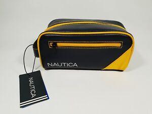CLEARANACE New Authentic Nautica Men's Core Pebble Travel Kit Case Small Bag