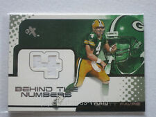 "BRETT FAVRE 2001 Fleer eX ""Behind The Numbers"" JERSEY Card #327/796 - PACKERS"
