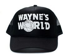 Solid Black Wayne's World Printed Unisex Adult Truckers Hat Cap Costume