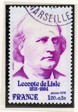 TIMBRE FRANCE OBLITERE N° 1988 LECONTE DE LISLE /
