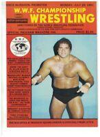 mint early Curt Hennig WWF Program NWA wrestling 1981 Muraco Mosca Slaughter AWA