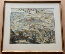 "Coenraet Decker - The Siege of Haarlem 1572-1573 Map Print - Frame 16""x18"""