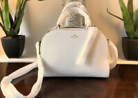 Kate Spade Bayley Atwood Place Bright White Pebbled Leather Satchel Crossbody