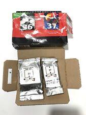 Lexmark 36 37 Combo Ink Pack Black Color X3650 X4630 X4650 X5650 X6650 X6675